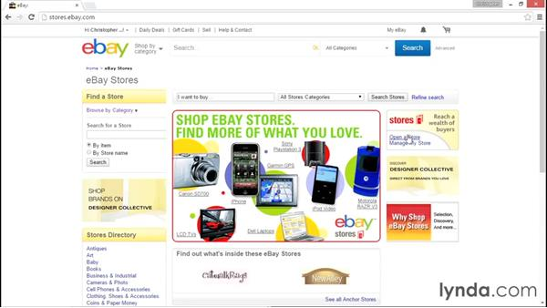 Opening your first store on eBay: eBay for Sellers Essential Training