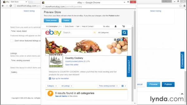 Branding your eBay store: eBay for Sellers Essential Training