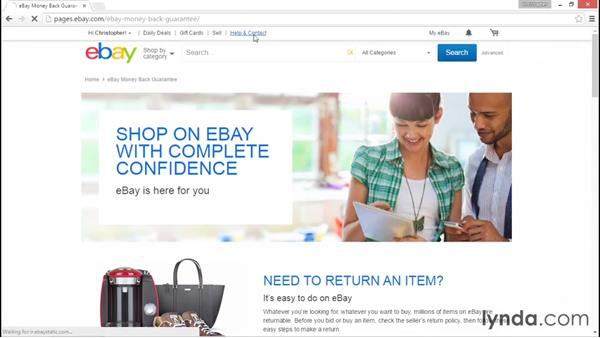 The different ways to reach out to eBay customer support: eBay for Sellers Essential Training