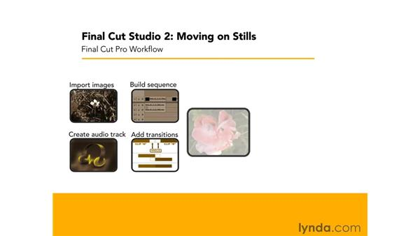 Overview of animation: Final Cut Studio 2: Moving on Stills