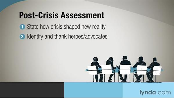 Going public with a post-crisis assessment: Crisis Communication