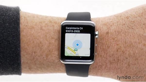 Using Glances: Up and Running with Apple Watch