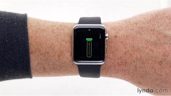 Customizing the watch face: Up and Running with Apple Watch