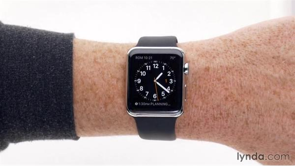 Receiving notifications: Up and Running with Apple Watch
