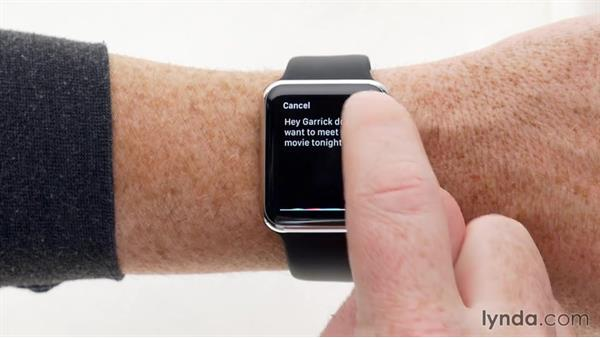 Accessing favorite contacts and sending quick messages: Up and Running with Apple Watch