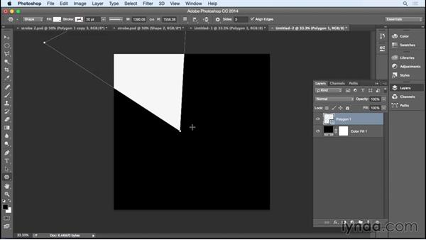 Creating abstract images with strobe effects: Photoshop for Designers: Filters