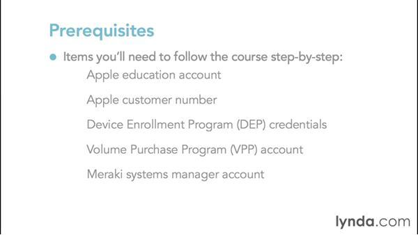 Prerequisites: iPads in Education: Deploying 1:1 iPads