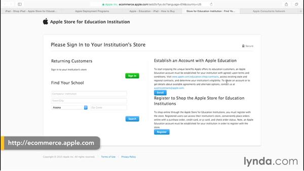 Setting up an account with Apple Education: iPads in Education: Deploying 1:1 iPads