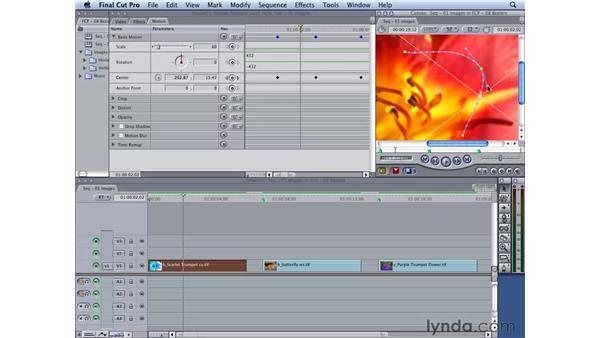 Adding Bezier controls: Final Cut Studio 2: Moving on Stills