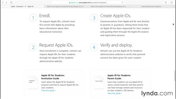 Enrolling in Apple ID for Students