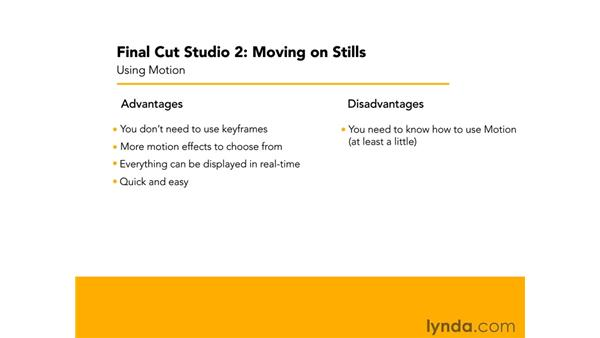 Overview of movement in Motion: Final Cut Studio 2: Moving on Stills