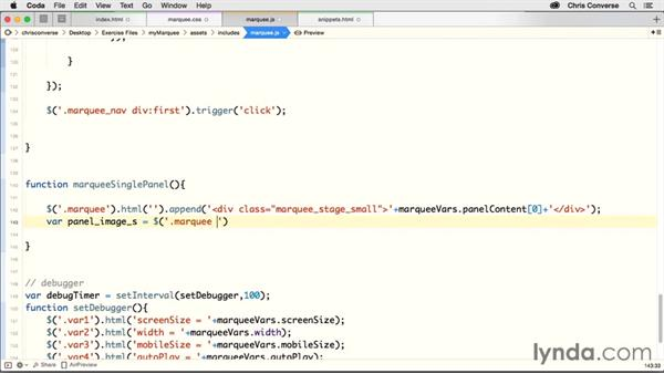 Injecting markup for the small marquee stage: Creating a Responsive Homepage Marquee
