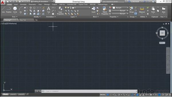 Changing workspaces: AutoCAD 2016 Essential Training