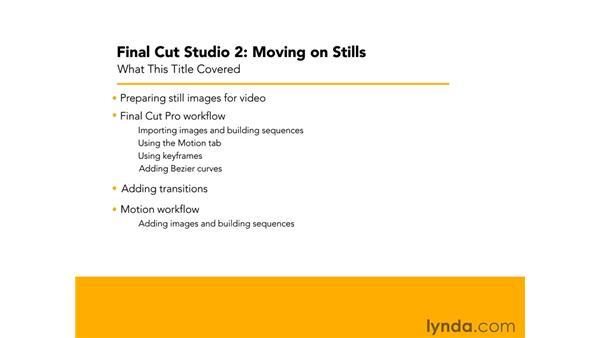 Goodbye: Final Cut Studio 2: Moving on Stills