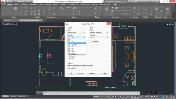 Selecting drawing units: AutoCAD 2016 Essential Training