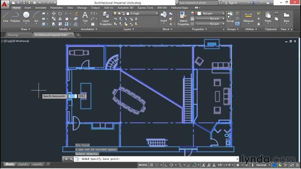 how to change units of existing drawing in autocad