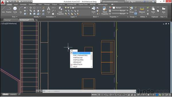 Using commands and panning a drawing: AutoCAD 2016 Essential Training