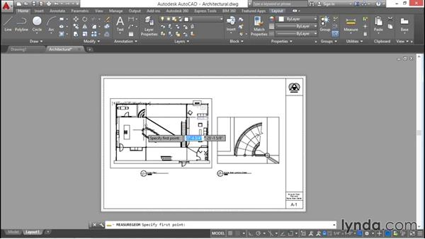 Understanding model and paper spaces: AutoCAD 2016 Essential Training
