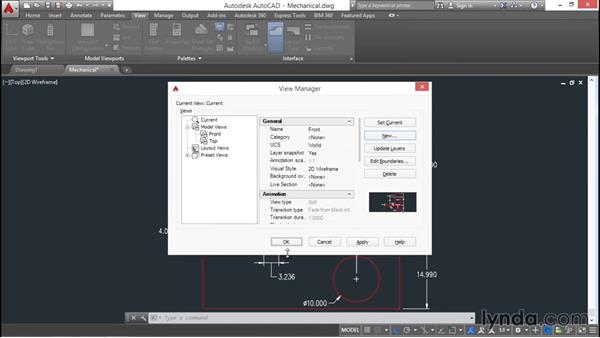 Saving and restoring views: AutoCAD 2016 Essential Training