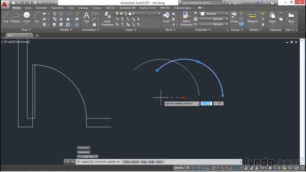 Arcs: AutoCAD 2016 Essential Training