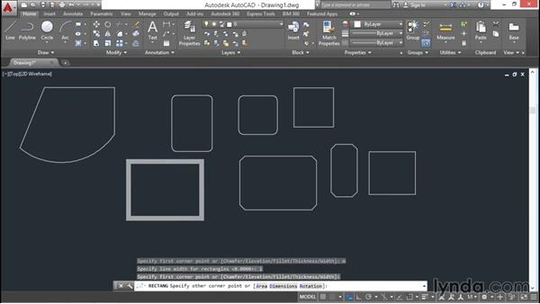 Rectangles and polygons: AutoCAD 2016 Essential Training