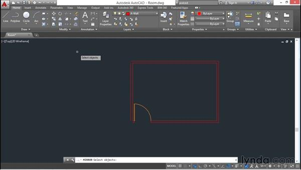Offsetting and mirroring: AutoCAD 2016 Essential Training