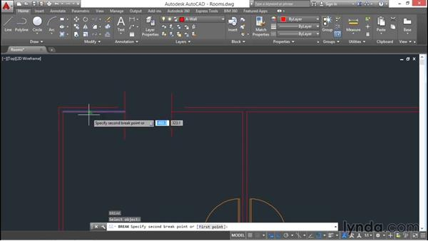 Breaking and joining: AutoCAD 2016 Essential Training