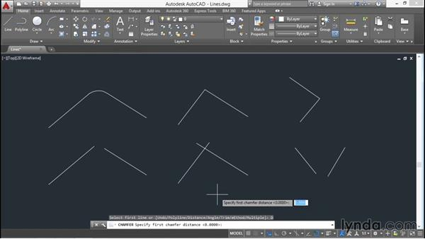Using the fillet chamfer and blend commands: AutoCAD 2016 Essential Training