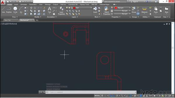 Using the From command: AutoCAD 2016 Essential Training