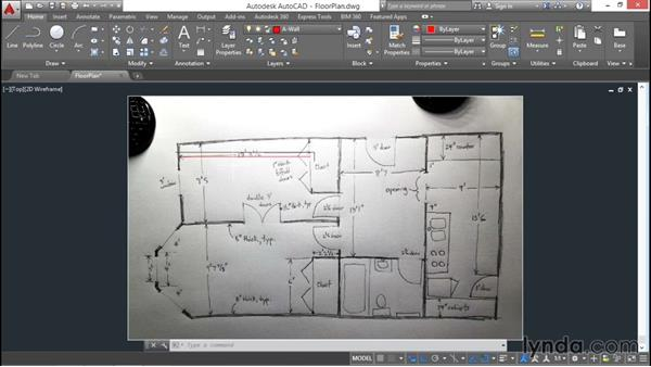 Architectural project: Attaching a sketch: AutoCAD 2016 Essential Training