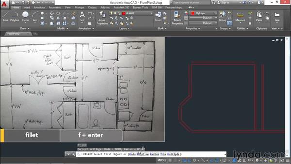 Architectural project: Drawing walls: AutoCAD 2016 Essential Training
