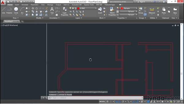 Architectural project: Cutting openings: AutoCAD 2016 Essential Training