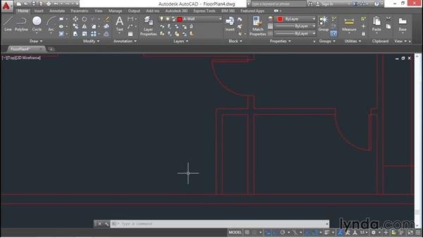 Architectural project: Drawing doors: AutoCAD 2016 Essential Training