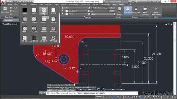 Using the Hatch command: AutoCAD 2016 Essential Training