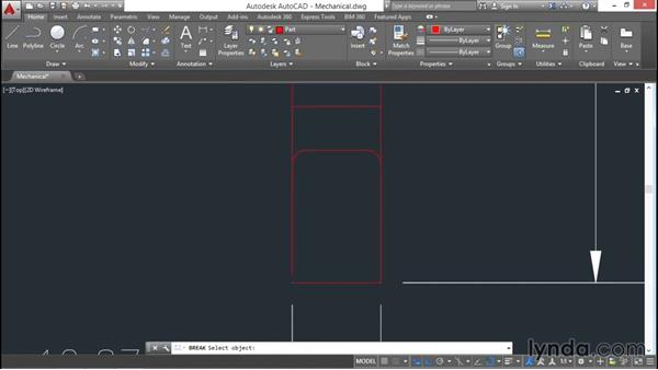 Creating hatch patterns by selecting objects: AutoCAD 2016 Essential Training
