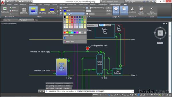 Creating gradients: AutoCAD 2016 Essential Training
