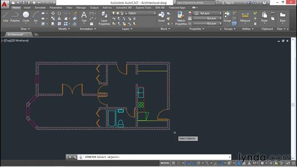 Editing hatch boundaries: AutoCAD 2016 Essential Training