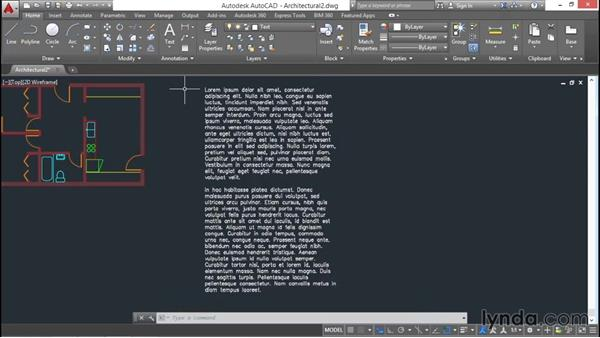 Writing multiline text: AutoCAD 2016 Essential Training