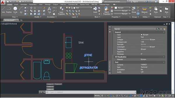 Aligning text objects: AutoCAD 2016 Essential Training