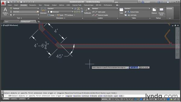 Making dimension objects: AutoCAD 2016 Essential Training