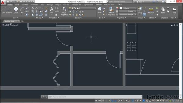 Hiding and isolating objects: AutoCAD 2016 Essential Training