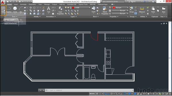 Creating layers: AutoCAD 2016 Essential Training