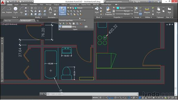 Accessing specialized layer tools: AutoCAD 2016 Essential Training