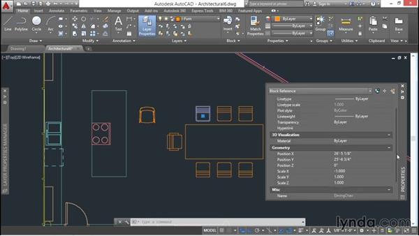 Redefining local blocks with global blocks: AutoCAD 2016 Essential Training