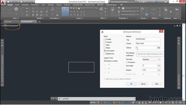 Designing attribute definitions: AutoCAD 2016 Essential Training