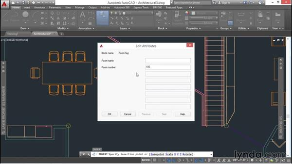 Defining a block with attributes: AutoCAD 2016 Essential Training