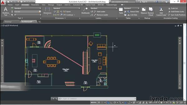 Creating a table: AutoCAD 2016 Essential Training