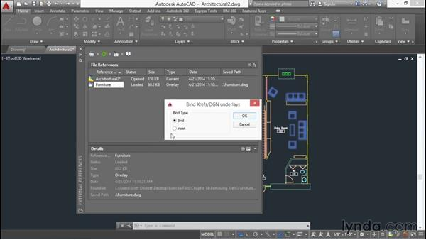 Removing xrefs: AutoCAD 2016 Essential Training