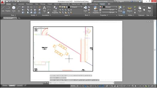 Configuring a viewport: AutoCAD 2016 Essential Training