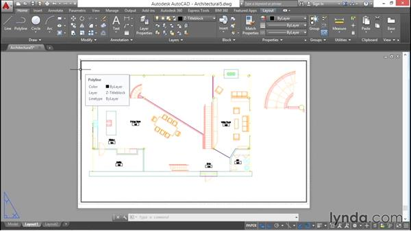 Drawing a title block: AutoCAD 2016 Essential Training
